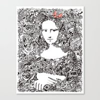 mona lisa Canvas Prints featuring Mona Lisa by Gribouilliz