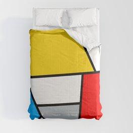 Minimal De Stijl Retro Polygon Color Composition Comforters