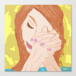 She Prayed Canvas Print