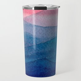 Sunset over the mountains Travel Mug