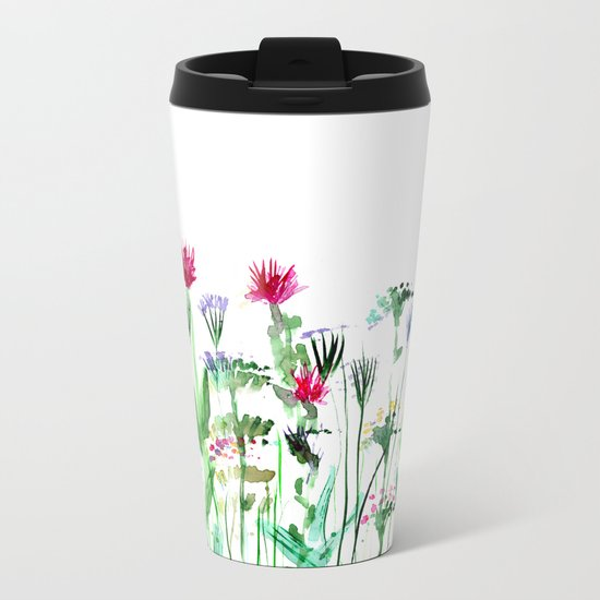 Summer || watercolor Metal Travel Mug