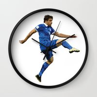 world cup Wall Clocks featuring World Cup - Greece - Sokratis by DanielHonick