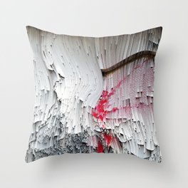 Red flowers on a wall Throw Pillow