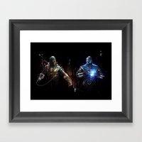 MK VS. Framed Art Print