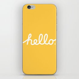 Hello: The Macintosh Office (Yellow) iPhone Skin