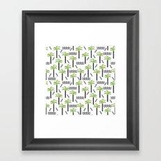 Palm trees tropical minimal ocean seaside socal beach life pattern Framed Art Print
