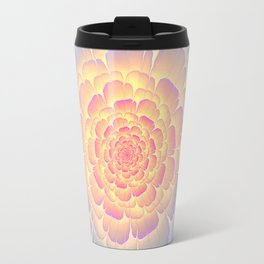 Romantic violet and yellow flower Travel Mug