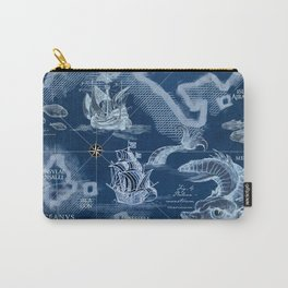 Fisherman's Cove Blue Carry-All Pouch