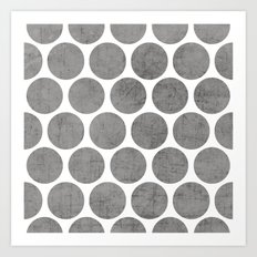 gray polka dots Art Print