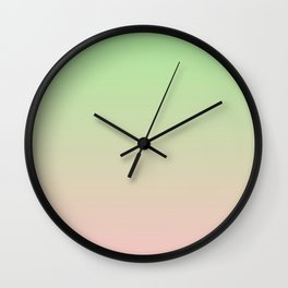 PARADISE MIST green & pink colors ombre pattern  Wall Clock