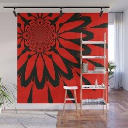 The Modern Flower Red & Black Wall Mural