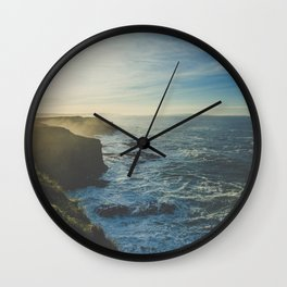 I Will Come Back But First... // Landscape // Edge of Cliff Photography #society6 #art #prints Wall Clock