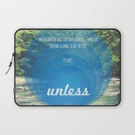 Unless | Blue Laptop Sleeve
