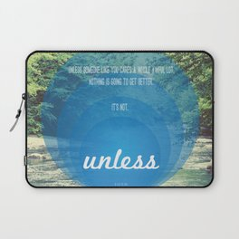 Unless | Blue Laptop Sleeve