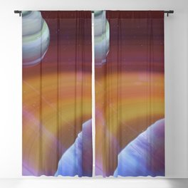 Outer space Blackout Curtain