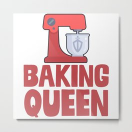Baking Queen Metal Print
