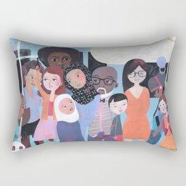 WHY AM I ME? SUBWAY SCENE Rectangular Pillow