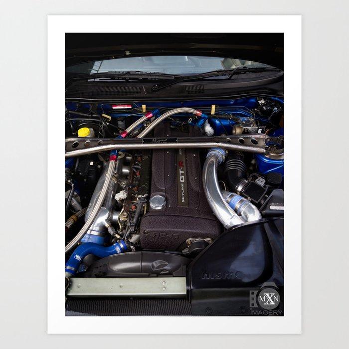 Mines Tuned Stage 2 V Spec 2 Nissan Skyline GTR R34 Art Print