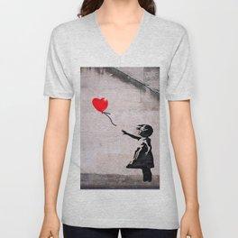 Banksy, Hope Unisex V-Neck