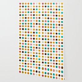 Autumnal polka dot Wallpaper