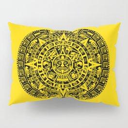 Mayan Calendar // Yellow Pillow Sham