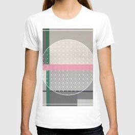 Green Line - dot circle graphic T-shirt