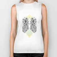 tropical Biker Tanks featuring Tropical by Barlena