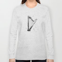 Harp, black and white Long Sleeve T-shirt