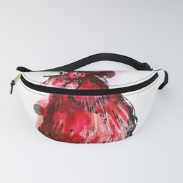 Inky Rooster Fanny Pack