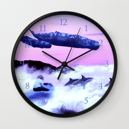 Whale migration Wall Clock