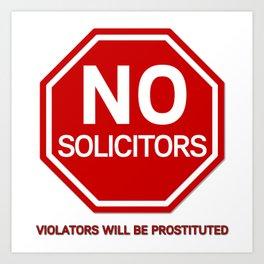 No Solicitors Art Print