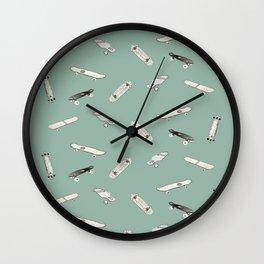 A cool longboard pattern or cool skateboard pattern Wall Clock