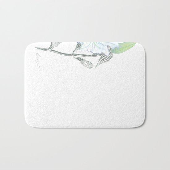 Lily 01 Botanical Flower * White Casablanca Lily Bath Mat
