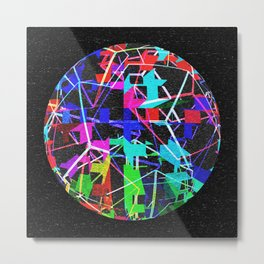 Disco Ball Night Metal Print