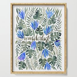 Tropical Wanderlust – Periwinkle Serving Tray