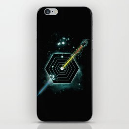 Space and Time Fragmentation Ship iPhone Skin