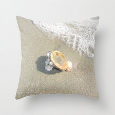 Washed Up Seashell. Throw Pillow
