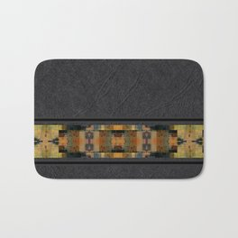 Textured Southwestern Stripe Pattern Bath Mat