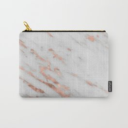 Lenola - minimalist rose gold gleam marble Carry-All Pouch