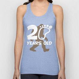20th Birthday Bigfoot 20 Years Old Sasquatch Unisex Tank Top