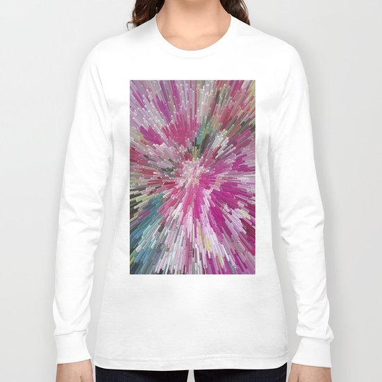 Abstract flower pattern 3 Long Sleeve T-shirt