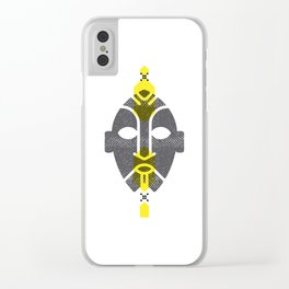 African Mask Yellow Clear iPhone Case