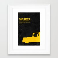 taxi driver Framed Art Prints featuring TAXI DRIVER by maxime pecourt