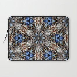 River Birch bark with blue sky kaleidoscope Laptop Sleeve