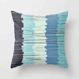 Blue Stripes Abstract Throw Pillow