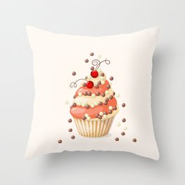 cupcake with currant Throw Pillow