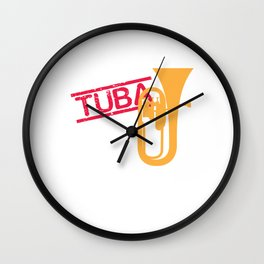 Tuba Players Tubaist Musicians Musical Notes Instruments Gift Wall Clock