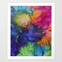 chakra Art Prints featuring Chakra Splash by Krystle Ash