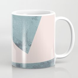 Turquoise and pink abstract divide Coffee Mug