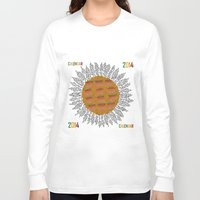 calendar Long Sleeve T-shirts featuring Calendar 2014 - Sunflower by Julia Kisselmann